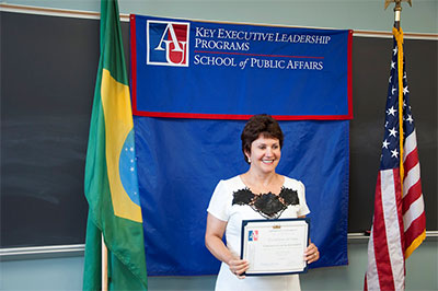 Em Washington, Eva Schran participa de capacitação para lideranças
